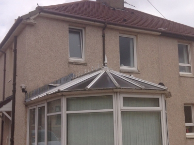 Before and After conservatory roof replacement