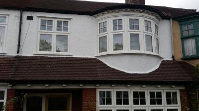 White UPVc wood look alike windows in SE25, #Southlondonwindows