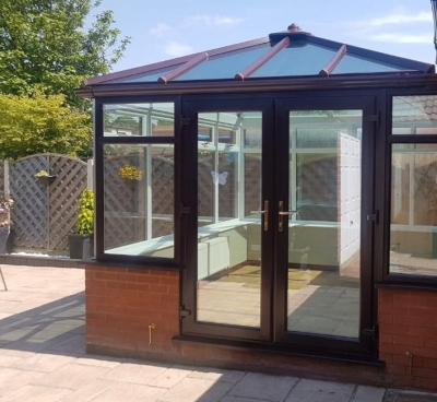 Two-tone conservatories bring brighter living