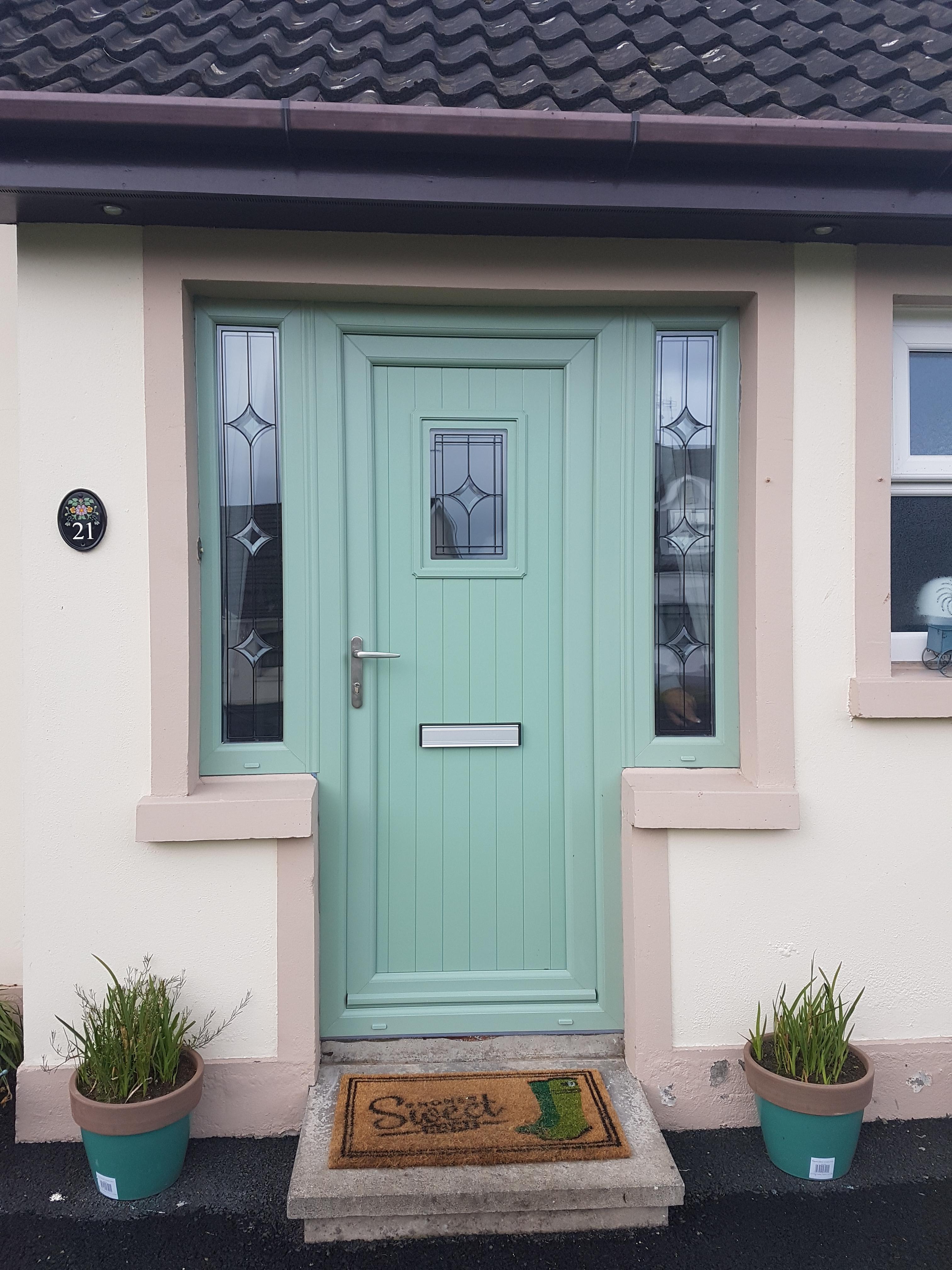White VEKA Windows \u0026 Chartwell Green Door Installed & Fernisky Frames | Double Glazing in Ballymena Co. Antrim