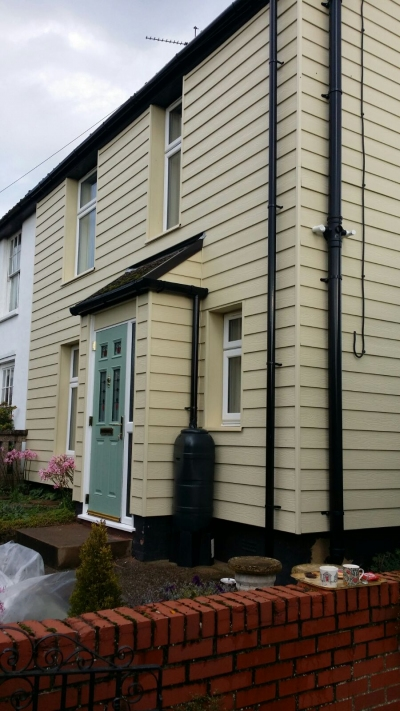 Marley Cedral Weatherboard & Chartwell Green Composite Door Installation