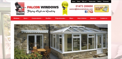Falcon Windows Website - now phone-friendly!