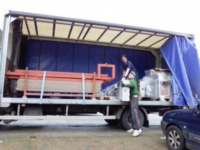 Brand new shiny conservatory base arriving for our clients in Solihul